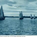 ordensjunkrzy ćwiczą na jeziorze Drawsko