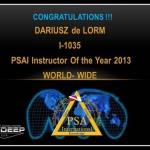 Dariusz de Lorm - certyfikat