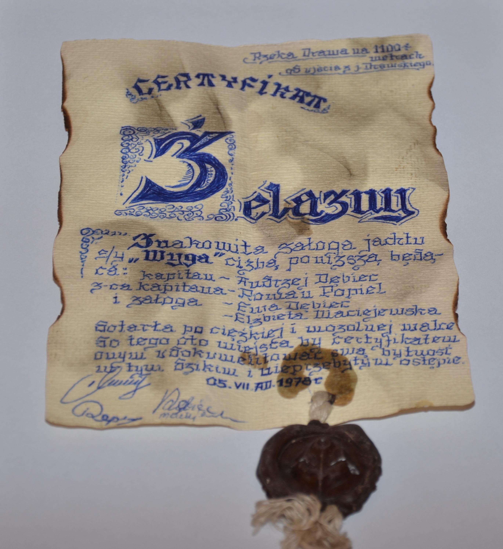 zdjęcie główne - certyfikat żelazny