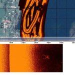 trasa sonaru w Zatoce Kluczewskiej