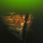Malowniczy wrak w zatoce naprzeciw ośrodka Drawtur