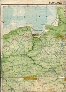 Czaplinek na mapie z 1934 roku