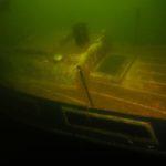 Wrak jachtu w jeziorze Drawsko