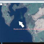 Wypłycenie w rejonie Zatoki Kluczewskiej. Źródło - Google Maps