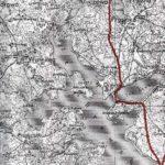Planowany przebieg berlinki na północnym brzegu jez Drawsko - linia przerywana. zródło www.berlinka.pcp.pl