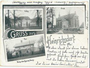 Pocztówka z dawnego Heinrichsdorfu obecnego Siemczyna. Nadesła Ks. Andrzej Naporowski