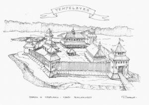Tak mógł wyglądać zamek Templariuszy w Czaplinku.