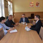 Spotkanie dr Chudziaka ze Starostą Stanisławem Kuczyńskim