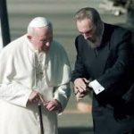 Papież Jan Paweł II z Castro. Tak się złożyło, że drogi obu tych osób przecinały Pojezierze Drawskie.