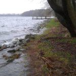 Jezioro Drawsko zalewa brzeg